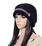 XuBa Mütze Frauen stricken Schnee Hut Winter Snowboard häkeln (schwarz) - Snowboard Hut, Mütze,