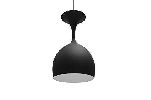 Modern Finike Hanging Light - Black, made of metal