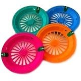 Reusable Plastic Paper Plate Holders for 9 Plates Tropical Colors by Cooking Concepts