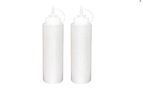2/Designergläser Klauenhammer/Latthammer Kunststoff nachfüllbar Sauce Squeezer Flasche Spender/transparent Gewürz Behälter für Tomaten Sauce creme Honig und Salatdressing, plastik, 600 ml (Flasche Cap Dispenser)