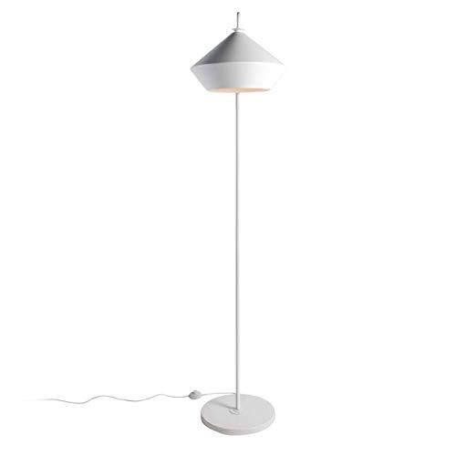 Lampadaire design SIGNATURE blanc mat en métal et aluminium