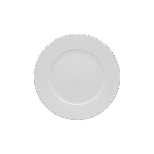 PORCELAINE FINE Assiette plate 'blanc' 27 cm (lot de 6) - 601000 - Fine Porcelaine