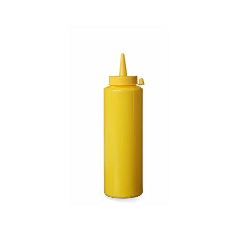 Hendi 558003 Spenderflasche für Saucen, 0,20 L, Polypropylen, Gelb