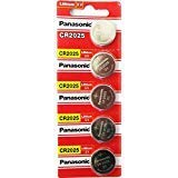 Panasonic CR2025 3 V Lithium Batterie Pack 1 x (5 x) = 5 Single Use Akkus 1 Batterie 3v