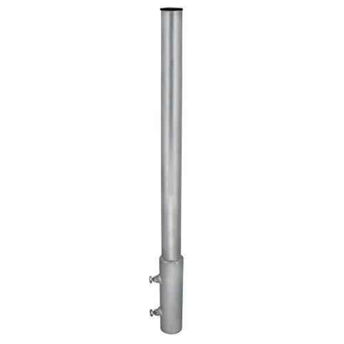 PremiumX Mastverlängerung 100 cm Ø 48 mm Stahl Mastaufsatz Antennenmast Verlängerung Sat-Mast-Halter mit Mastkappe
