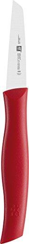 Kleine Klinge Feste Messer (Zwilling 38601070 Twin Grip Gemüsemesser, Friodur Klinge, 70 mm, rot)