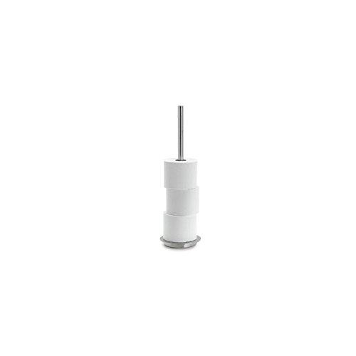 Delfino 25ah068-4Rotolo di carta igienica, in acciaio inox per 4rotoli, 155mm di diametro x 500mm H