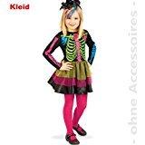 KarnevalsTeufel Little Catrina, 1-TLG. Kinder-Kostüm, Skelett, Mexikanerin, La Pequeña Catrina, Día de los Muertos, Tag der Toten, mexikanisches Volksfest, Cempasúchil, Sugar ()