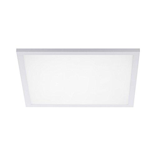LED Panel Deckenleuchte, Lichttemperaturwechsel warmweiß - kaltweiß - tageslichtweiß, dimmbar inkl. Fernbedienung (45x45) -