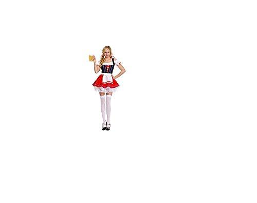 Erwachsene Neuheit Bier-Mädchen-Kostüm ()