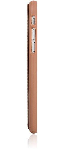 Bouletta - Flex Cover - Apple iPhone 6 Plus / 6S Plus Hülle | Leder+TPU Schutz-Hülle | Handyhülle | Ledertasche | Handytasche | Schutzhülle | Cover | Case | Hülle | bruchfeste Schale (Dunkel Braun) Dunkel Braun