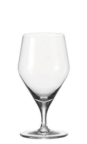 Leonardo Wasserglas Twenty 4, 6-er Set, 330 ml, spülmaschinenfest, Teqton-Kristallglas, 066550 - Trink Wasser Gläser
