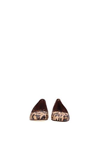 C17589A164680022 Dolce&Gabbana Ballerine Femme Cuir Beige Beige