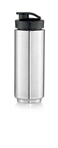 WMF KULT X Trinkflasche 0,6 l Keep Cool, passend für KULT X Mix & Go, Thermo Mixbehälter, cromargan matt/silber