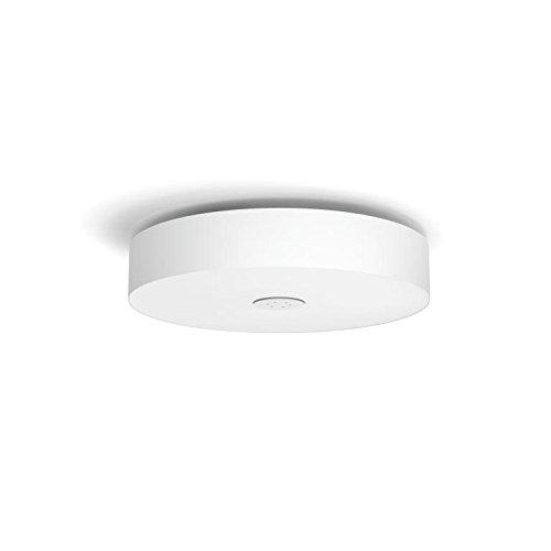 Philips Hue LED Deckenleuchte Fair inkl. Dimmschalter, dimmbar, alle Weißschattierungen, steuerbar via App, weiß, kompatibel mit Amazon Alexa (Echo, Echo Dot) (Helfen Sie Mit Amazon Echo)