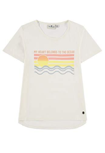 TOM TAILOR Kids Mädchen T-Shirt Placed Print Langarmshirt, Weiß (Cloud Dancer 1610), Herstellergröße: 92 -