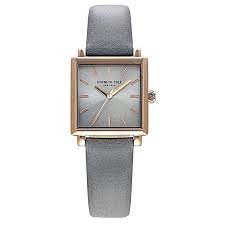 Kenneth Cole New York Women's Quartz Stainless Steel and Leather Casual Watch, Colour: Grey/Stone KC15175003