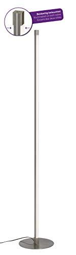 Briloner Leuchten 1375-012 Led lámpara, pie de 2 Luces, Regulable, 1800 lúmenes, Metal, 17.3 w, Matt Nickel, Ø245 x 1.480 mm (ØxH)