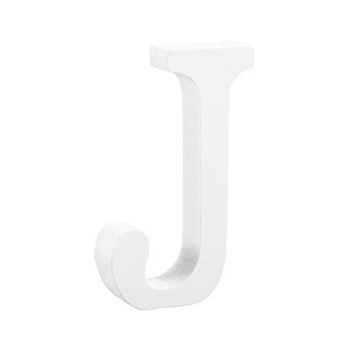 ben J Alphabet Stehende Wand Brief für Hochzeit Geburtstag Party Dekor DIY Handwerk 8 cm (Weiß) ()