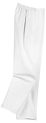 Uvex 81529 Arbeitshose für Damen - Medizinische Bundhose aus 100% Baumwolle - mit Elastischem Stretchbund - Weiß - Größe 48