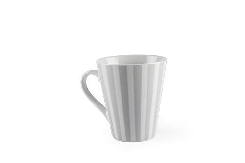 Excelsa Stripes Tasse Mug, Porcelaine, Gris