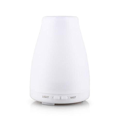 DMZYZZ Difusor de Aceites, 120ML Color Difusor de Aroma Lámpara Ultrasónico Silenciosa Humidificador para Yoga Oficina hogar Dormitorio y baño etc,White,11.3x11.3x19cm