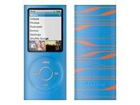 Belkin Ipod Nano 4G laser silicon sleeve, blue and orange
