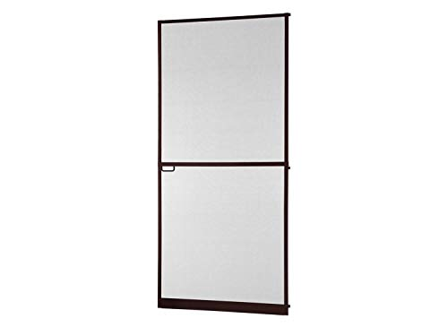 Mosquitera abatible con bisagras para puerta Master Slim Plus de aluminio, marrón, sin marco, 120 x 240 cm, fibra de vidrio sin corte, marco giratorio compatible con puertas y ventanas.
