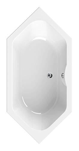 Calmwaters - Bonvouloir - Große 6-Eckige Duo-Badewanne in 190 x 90 cm für zwei Personen aus weißem Acryl - 02SL3338
