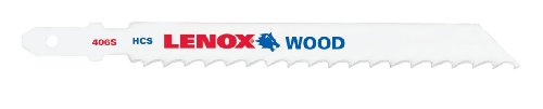 Lenox Tools 20750 Cts406s scies sauteuses haute en acier au carbone Lame de scie sauteuse à découper en bois, 10,2 cm X 3/20,3 cm 6tpi, 2-pack
