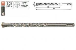 Preisvergleich Produktbild SDS Plus Bohrer 16 x 460 ,  Quadro-X vierschneidig ,  Steinbohrer