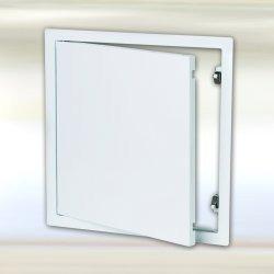 Domodul ® Revisionsklappe Revisionstür Stahl, weiß Schnappverschluss - Druckverschluss, Einbaumaß Breite x Höhe:200 x 200 mm