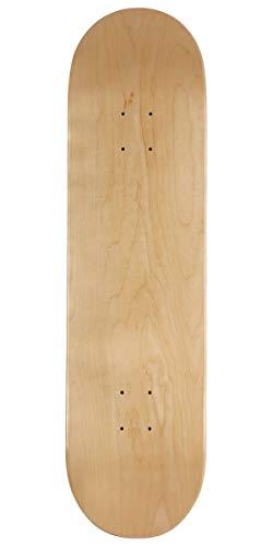 CCS Skateboard-Brett/Deck, blanko, Naturholz/Farben/Verschiedene Größen, natürliches Holz, 8.50