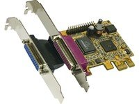 Exsys 2P PCI-Express Parallel Karte, EPP/ECP - Interface Cards/Adapters (EPP/ECP, PCIe, Wired) -