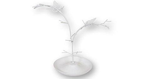 Dakota Cuelga joyas- bisutería. Árbol joyero de metal para anillos, pendientes, pulseras, colgantes. 23 cm 1 unidad