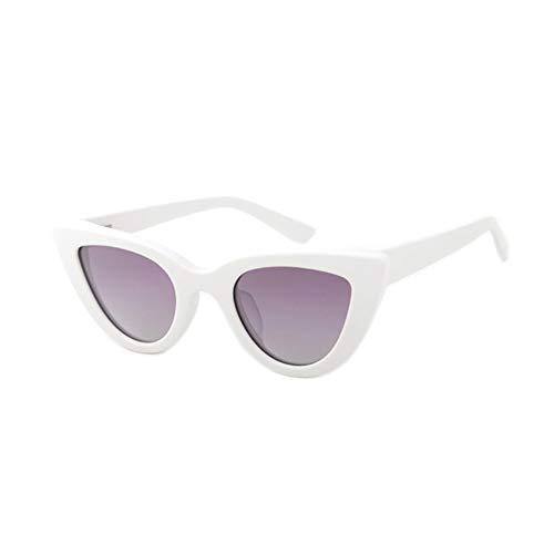 DelongKe Retro Sonnenbrille Rot,Federscharnier Für Herren Und Damen Polarisiert Und Antireflexion Sorgen Für 100% Igen Schutz Vor UV-Strahlen,White