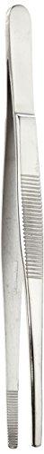 neoLab E-1359 Pinzetten 18/8-Stahl, poliert, runde Spitze, 145 mm lang (5-er Pack)