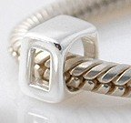 0 - Number - Sterling Silver Charm Bead - fits Pandora, Chamilia etc style Bracelets - SpangleBead