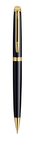 Waterman Hémisphère Matita Portamine, Nero Lucido con Finiture in Oro a 23 Carati, 0.5 mm, Confezione Regalo