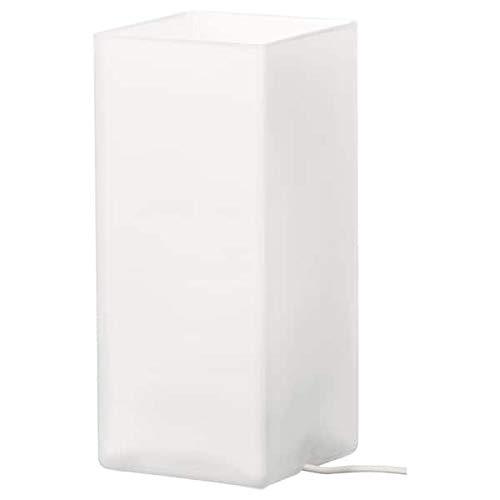 Ikea-Lámpara de mesa grönö, leche Cristal Blanco