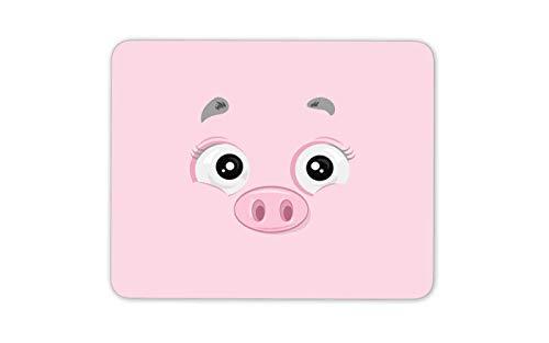 Karikatur-Schwein-Gesicht Mauspad Pad - Pink Piglet Bauer Bauernhof Computer-Geschenk # 15957 -