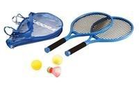 Hudora Tennisset Junior, 2 Schläger, 3 verschiedene Bälle