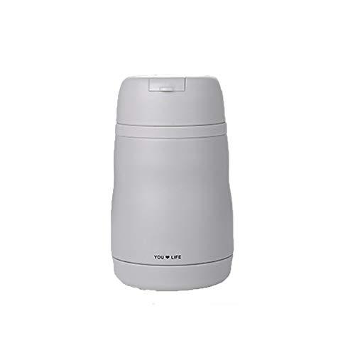 ZSL8 Thermoskanne Cup Männer und Frauen Studenten doppelwandigen Stroh Vakuum Edelstahl ohne BPA kalte Flasche Office Travel tragbare auslaufsichere Auto Tasse 400ML,Gray (Leben Stroh Flasche Wasser Filter)