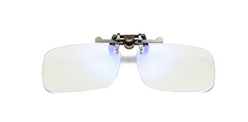 DAUCO Lens Clip on, Anti-Scintillement d'écran,- Haute Protection pour Écrans - Lunettes Gaming PC Mobile TV - Anti Fatigue Anti UV Anti Lumiere Bleue