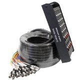 Seismic Audio - SAXQ-16x8x75 - 16 Channel 75' XLR Snake Cable with XLR and 1/4