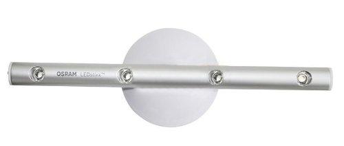 Osram LED-Lichtleiste, LEDstixx, silber, flexible Stablampe für Sideboards, etc., batteriebetrieben, mit Klebepat, 22 cm - Länge, Gehäuse aus Aluminium - 4