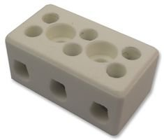 Ceramic Terminal Block (CERAMIC BLOCK 3 POLE 57A CHTB10/3N By CAMDENBOSS)