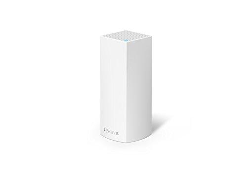 Linksys Velop WHW0301-EU - Sistema Wi-Fi en malla para todo el hogar (paquete de un nodo, tribanda, instalación guiada, modular, gestión de red por aplicación), color blanco