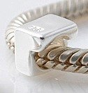 1 - Number - Sterling Silver Charm Bead - fits Pandora, Chamilia etc style Bracelets - SpangleBead