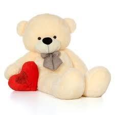 AVS 4 Feet Teddy Bear  Cream Color  122 Cm Animals   Figures